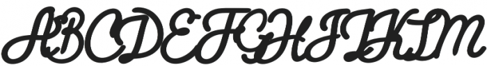 Firly Script otf (400) Font UPPERCASE