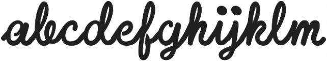 Firly Script otf (400) Font LOWERCASE