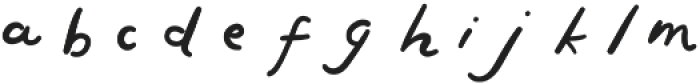 First Text Alt otf (400) Font LOWERCASE