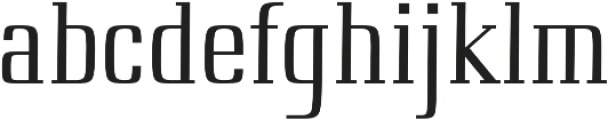 First regular otf (400) Font LOWERCASE