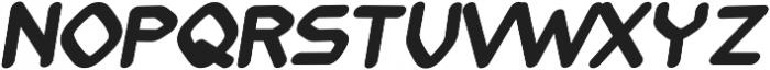 Fission regular otf (400) Font LOWERCASE
