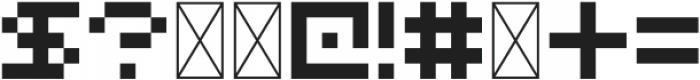 FiveBit Regular ttf (400) Font OTHER CHARS