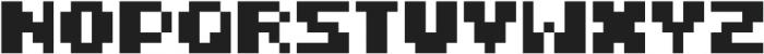 FiveBit Regular ttf (400) Font UPPERCASE