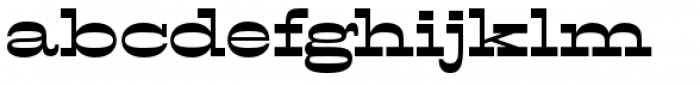 Filmotype Western Font LOWERCASE
