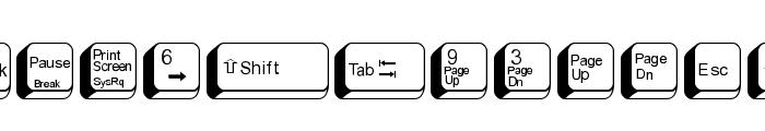 FIKey2 Font LOWERCASE