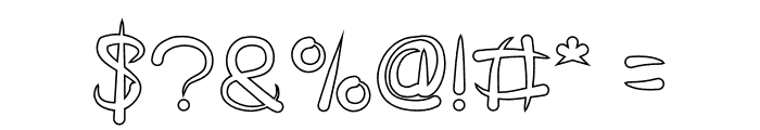 FISH BONE-Hollow Font OTHER CHARS