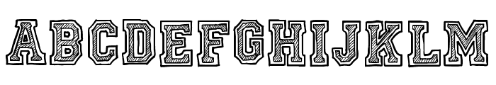 Ficticcia College Font UPPERCASE