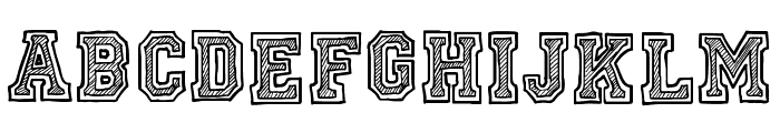 Ficticcia College Font LOWERCASE