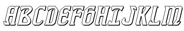 Fiddler's Cove 3D Italic Font UPPERCASE