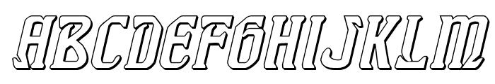 Fiddler's Cove 3D Italic Font LOWERCASE