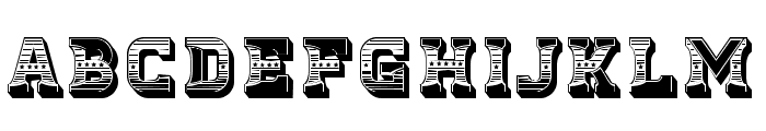 Fierce Regular Font UPPERCASE