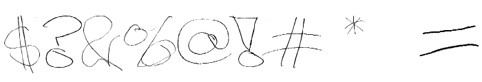 Figge Hand Style Font OTHER CHARS