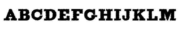 FigginsBrute Trash Font UPPERCASE