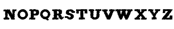 FigginsBrute Trash Font LOWERCASE