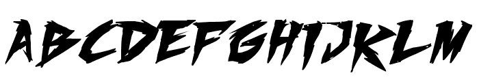 Fighting Spirit TBS Bold Font LOWERCASE
