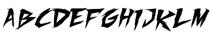 Fighting Spirit TBS Font LOWERCASE