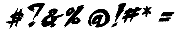 Fighting Spirit turbo Bold Italic Font OTHER CHARS