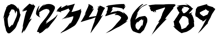 Fighting Spirit turbo Font OTHER CHARS