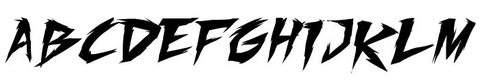 Fighting Spirit turbo Font LOWERCASE