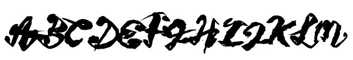 Figure writing Font UPPERCASE