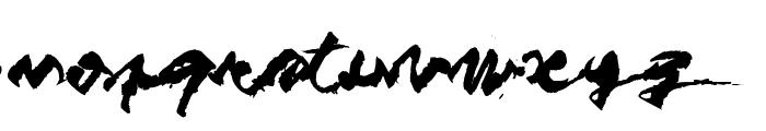 Figure writing Font LOWERCASE