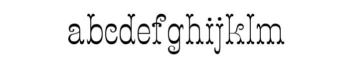 Figurny Font LOWERCASE