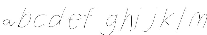 Filament Two-Seven Font LOWERCASE
