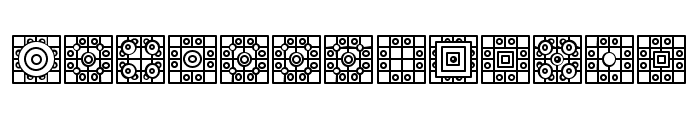 Filling Regular Font LOWERCASE