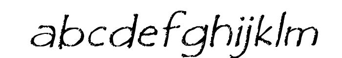 Film Cryptic Oblique Font LOWERCASE