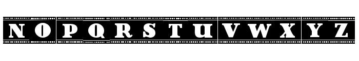 Film Letters Filled Regular Font UPPERCASE