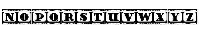 Film Letters Regular Font UPPERCASE