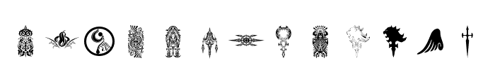 Final Fantasy Symbols Font UPPERCASE