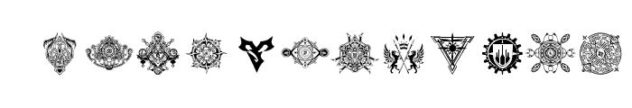 Final Fantasy Symbols Font LOWERCASE