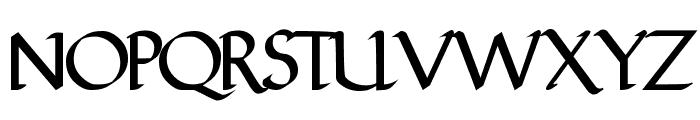 FinalRoman Medium Font UPPERCASE