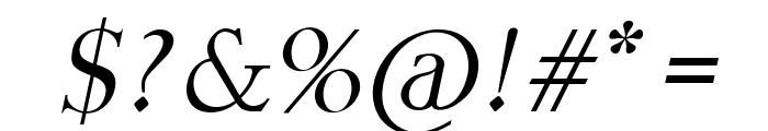 Fine Sans Italic Font OTHER CHARS