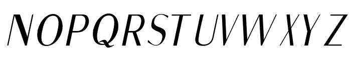 Fine Sans Italic Font UPPERCASE