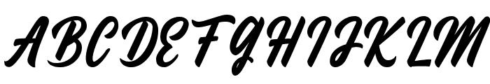 Fineberg Demo Font UPPERCASE