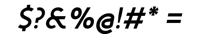 Fineness Pro Black Italic Font OTHER CHARS