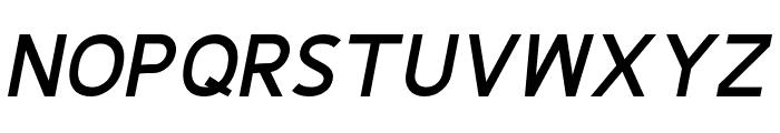Fineness Pro Black Italic Font UPPERCASE