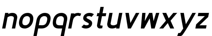 Fineness Pro Black Italic Font LOWERCASE