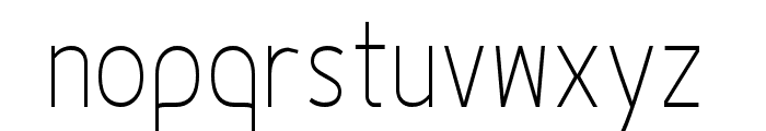 Fineness Pro ExtraLight Cond Font LOWERCASE