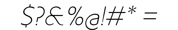 Fineness Pro ExtraLight Italic Font OTHER CHARS