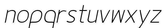 Fineness Pro ExtraLight Italic Font LOWERCASE