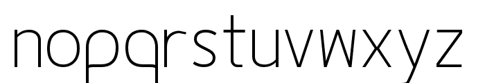 Fineness Pro ExtraLight Font LOWERCASE