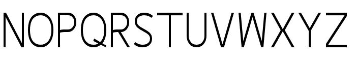Fineness Pro Light Cond Font UPPERCASE