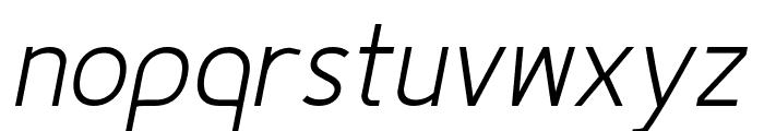 Fineness Pro Light Italic Font LOWERCASE