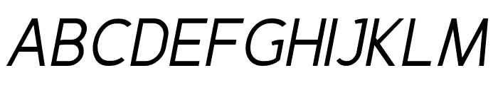 Fineness Pro Regular Italic Font UPPERCASE