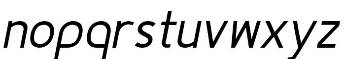 Fineness Pro Regular Italic Font LOWERCASE