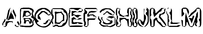 FingeredFlesh Font UPPERCASE