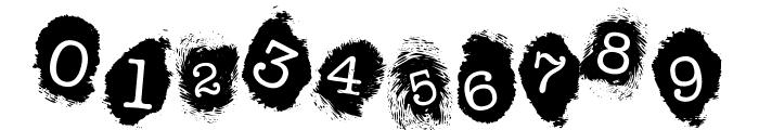 Fingerprints Inside Font OTHER CHARS